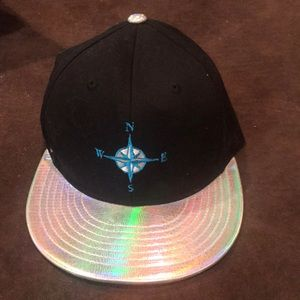Custom made Accessories - One of the kind embroidered hologram hat.